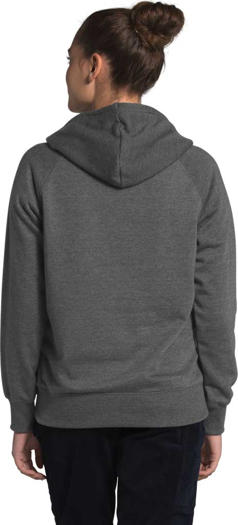 Women's The North Face Heritage Pullover Hoodie, TNF Dark Grey Heather, large, image 2