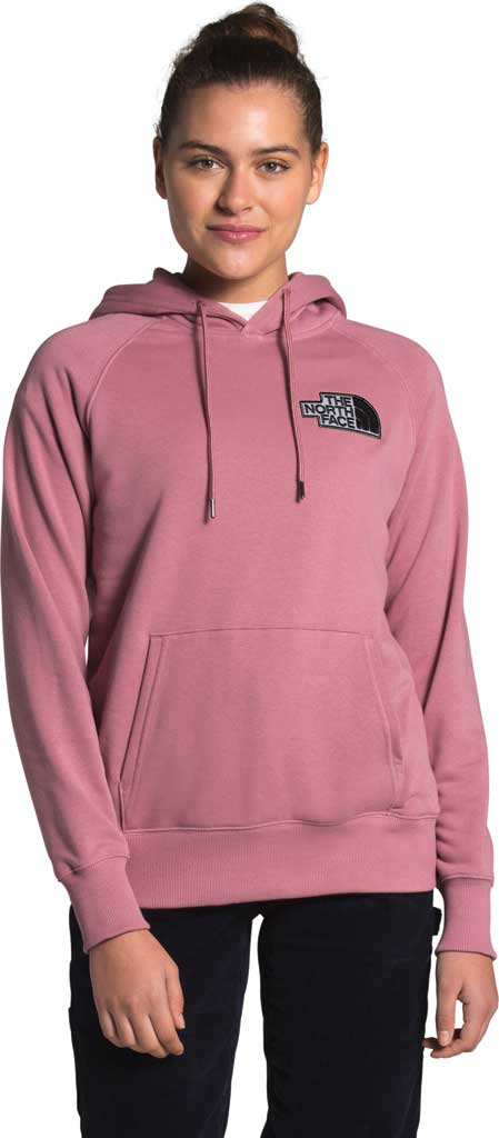 Women's The North Face Heritage Pullover Hoodie, Mesa Rose, large, image 1