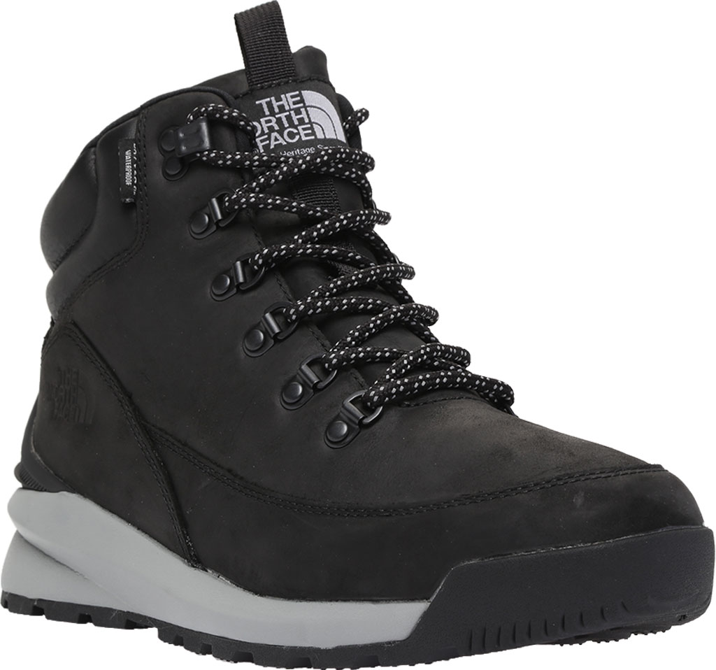Men's The North Face Back-to-Berkely Mid WP Hiking Boot, TNF Black/Griffin Grey, large, image 1