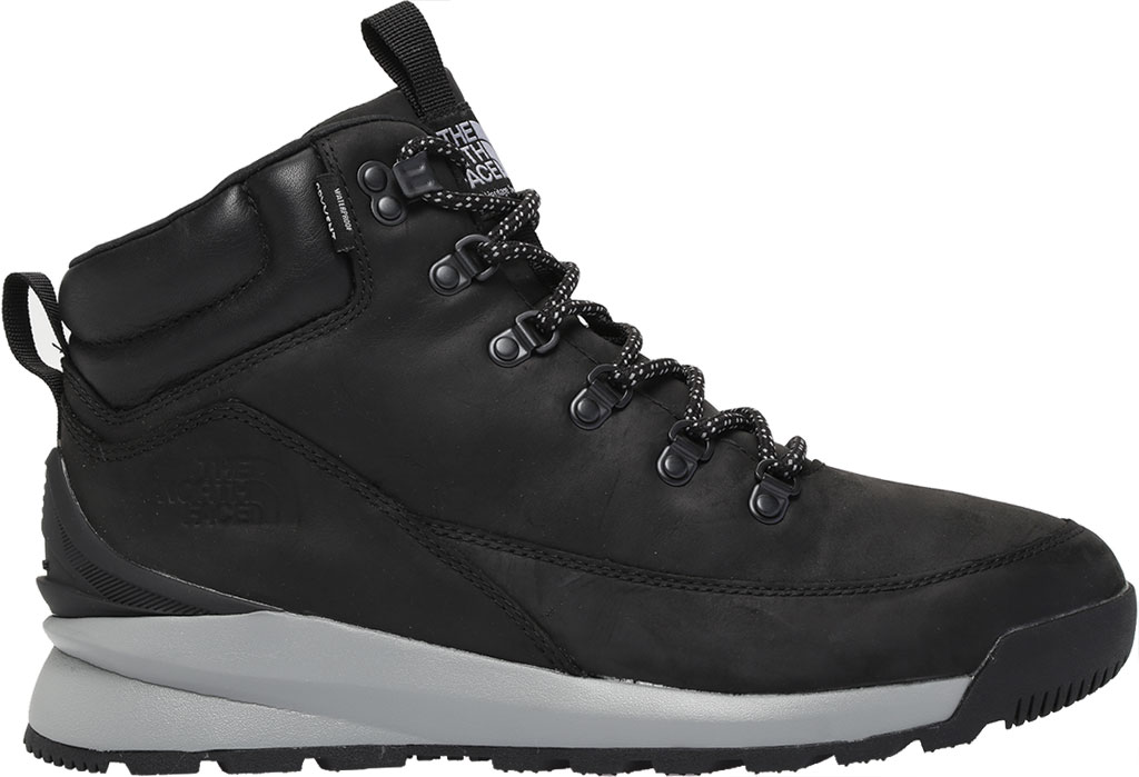 Men's The North Face Back-to-Berkely Mid WP Hiking Boot, TNF Black/Griffin Grey, large, image 2