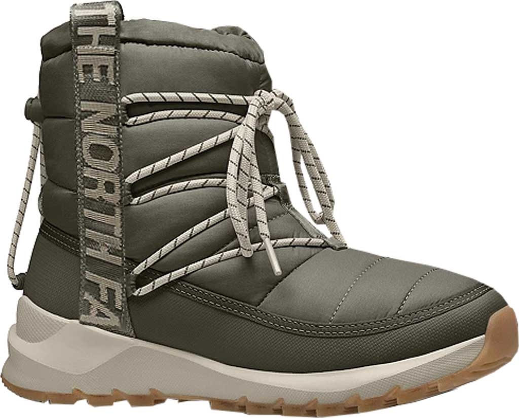 Women's The North Face ThermoBall Lace Up Winter Boot, New Taupe Green/Whisper White, large, image 1