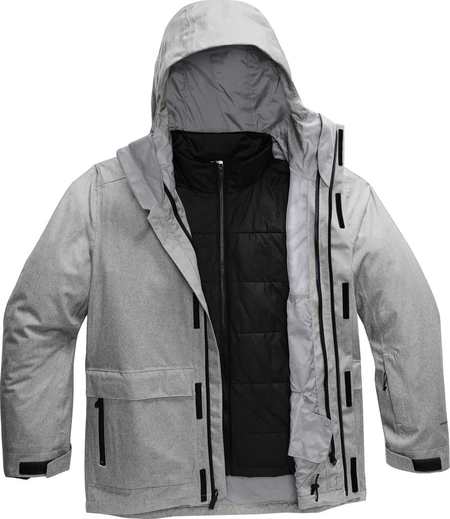 Men's The North Face Clement Triclimate Jacket, TNF Medium Grey Heather, large, image 1