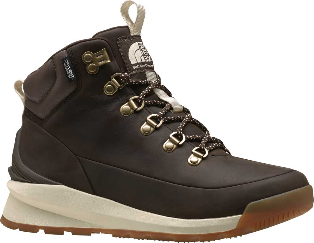 Women's The North Face Back-to-Berkeley Mid WP Hiking Boot, Demitasse Brown/Bipartisan Brown, large, image 1