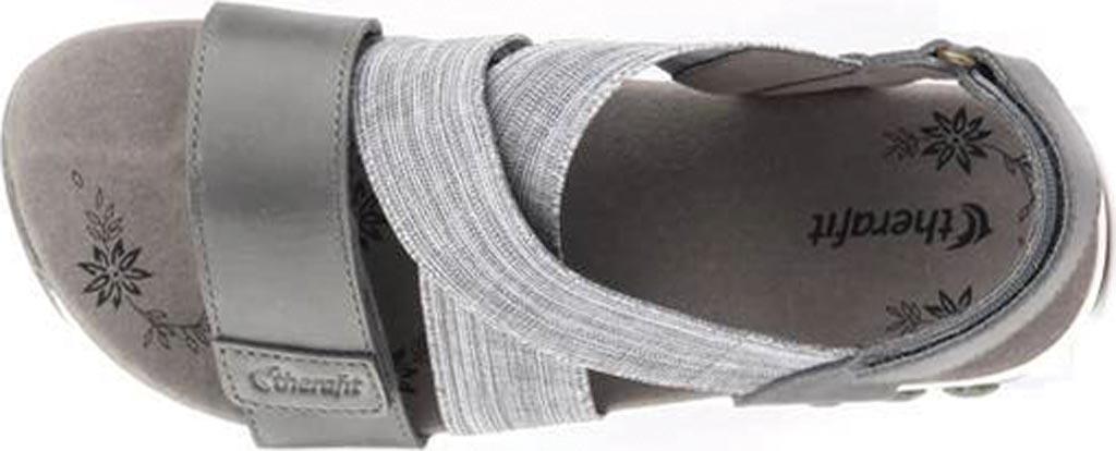 Women's Therafit Jessica Slingback Sandal, Blue Fabric/Leather, large, image 4