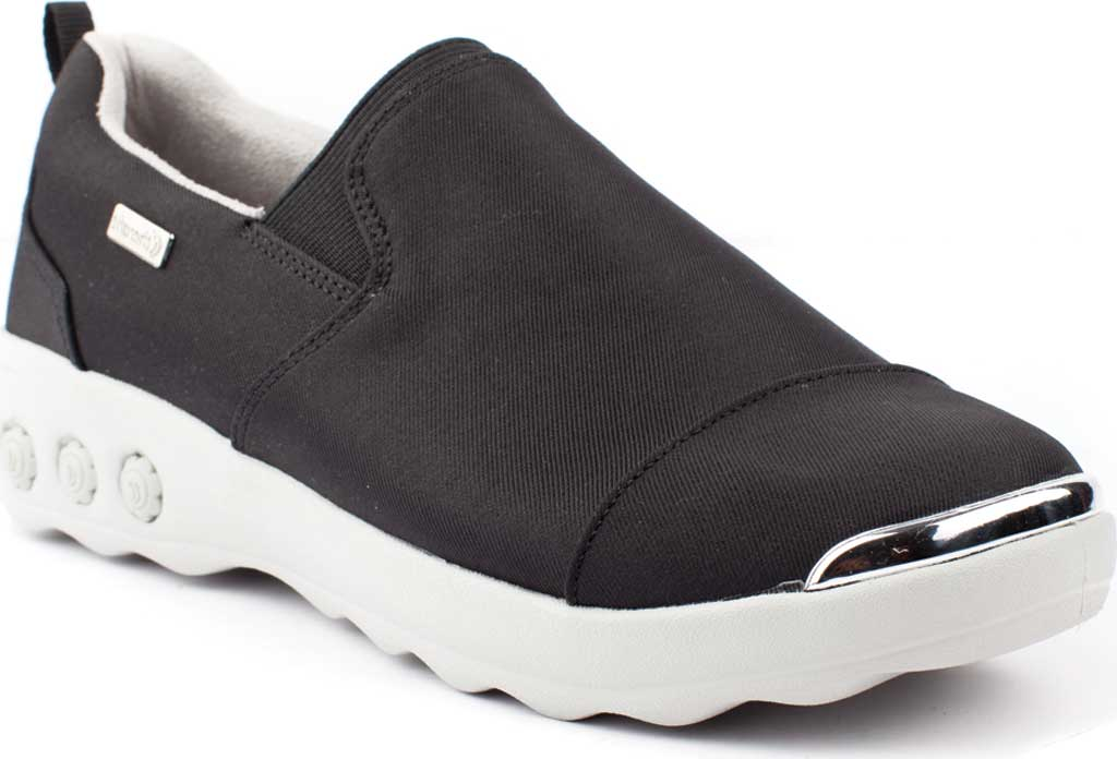 Women's Therafit Selena Lite Slip On Shoe, Black Fabric, large, image 1