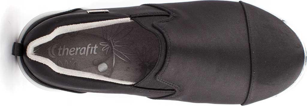 Women's Therafit Selena Lite Slip On Shoe, Black Fabric, large, image 5