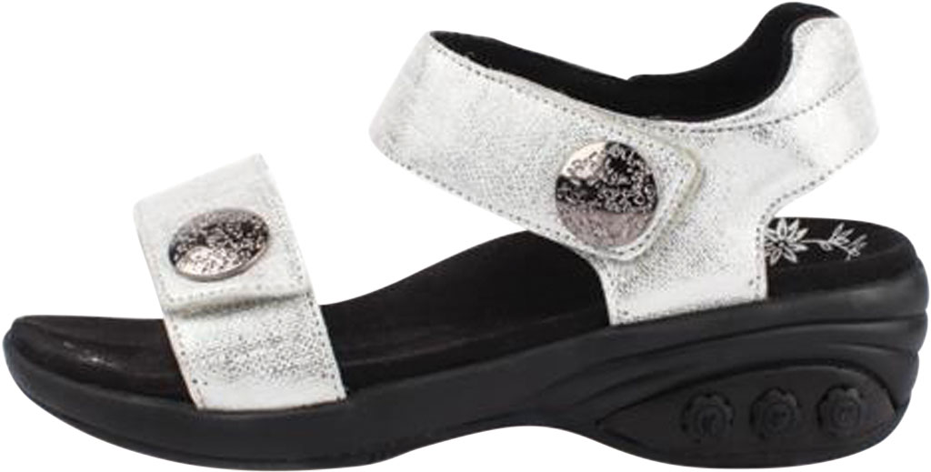 Women's Therafit Melody Comfort Sandal, White Leather, large, image 3