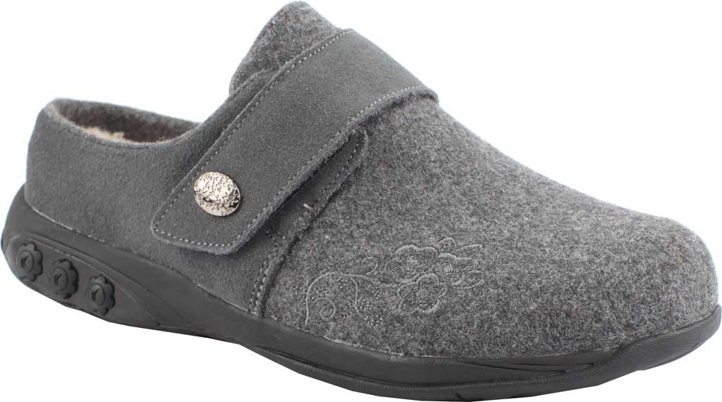 Women's Therafit Willow Clog Slipper, Grey Wool, large, image 1