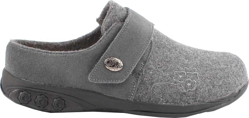 Women's Therafit Willow Clog Slipper, Grey Wool, large, image 2