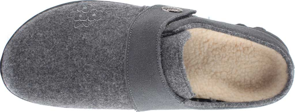 Women's Therafit Willow Clog Slipper, Grey Wool, large, image 4