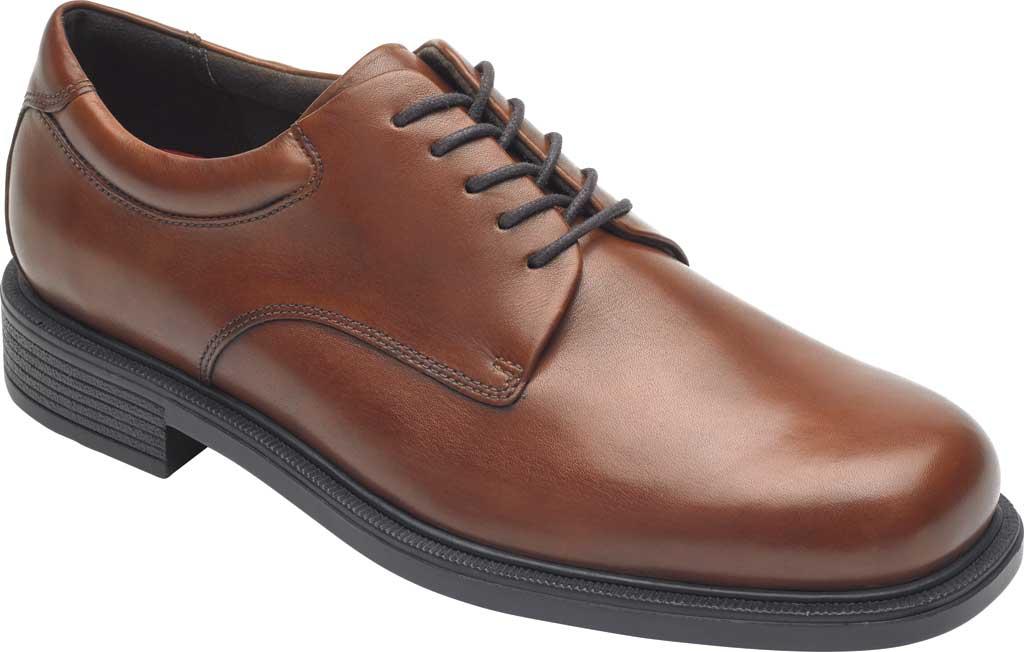 Men's Rockport Margin Oxford, New Brown Leather, large, image 1