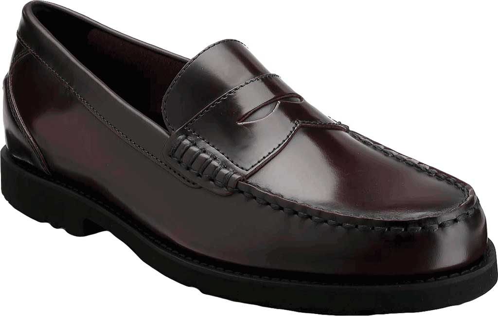 Men's Rockport Shakespeare Circle Loafer, Burgundy Brush Off Leather, large, image 1