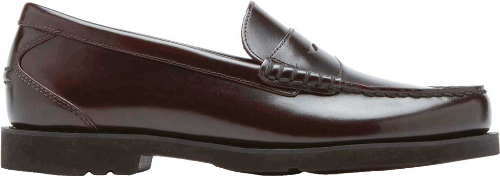Men's Rockport Shakespeare Circle Loafer, Burgundy Brush Off Leather, large, image 2