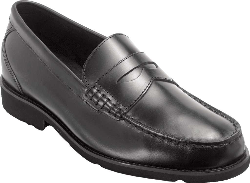Men's Rockport Shakespeare Circle Loafer, Black Brush Off Leather, large, image 1