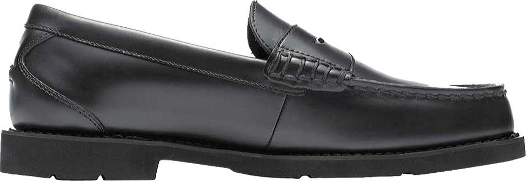 Men's Rockport Shakespeare Circle Loafer, Black Brush Off Leather, large, image 2