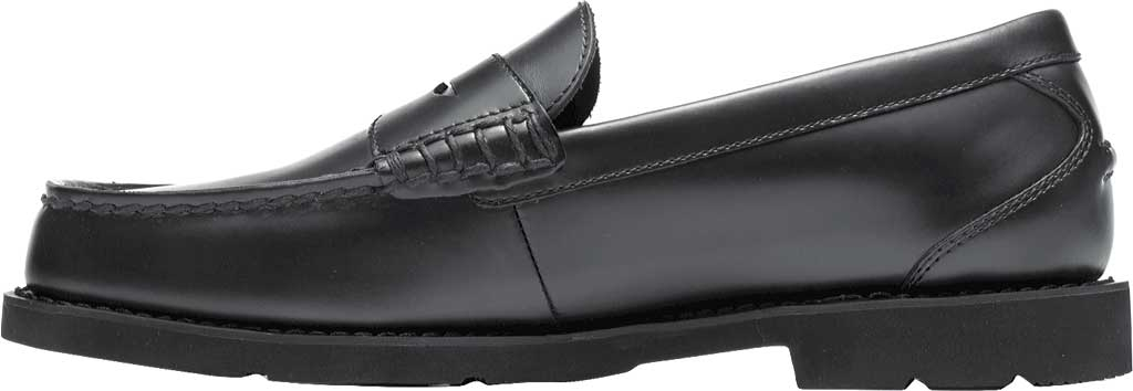 Men's Rockport Shakespeare Circle Loafer, Black Brush Off Leather, large, image 3