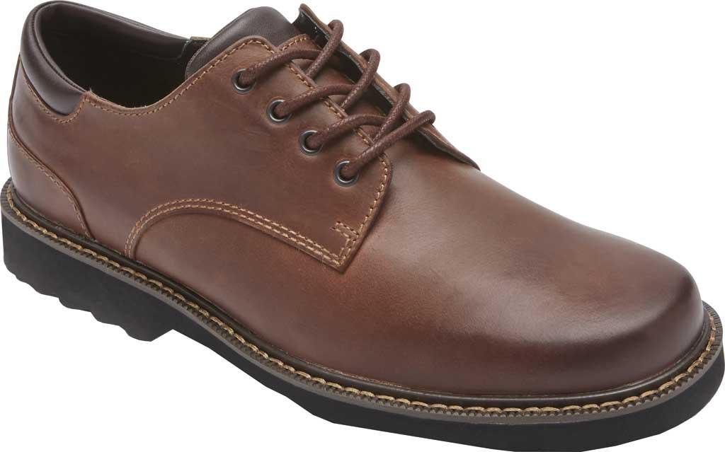 Men's Rockport Northfield Oxford, Dark Tan Leather, large, image 1