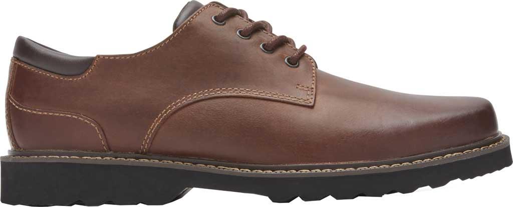 Men's Rockport Northfield Oxford, Dark Tan Leather, large, image 2