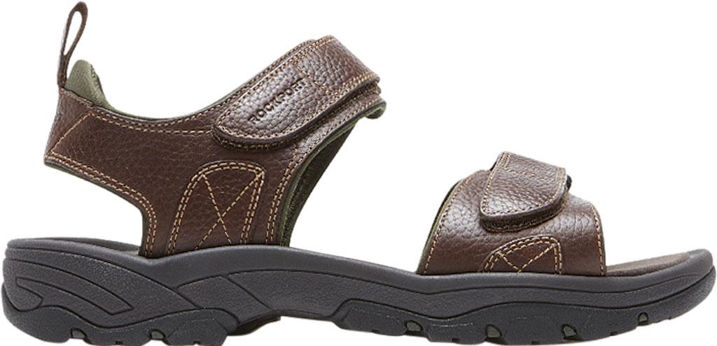 Men's Rockport Rocklake, Brown/Brown Leather, large, image 2