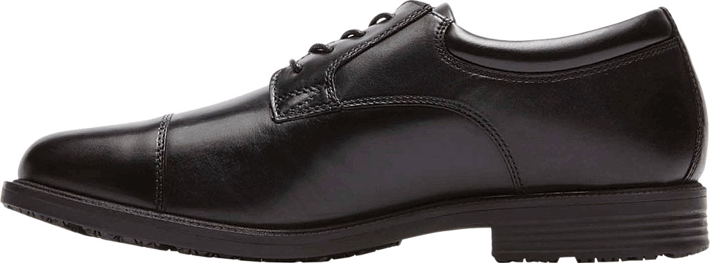 Men's Rockport Essential Details Waterproof Cap Toe, Black Leather, large, image 3