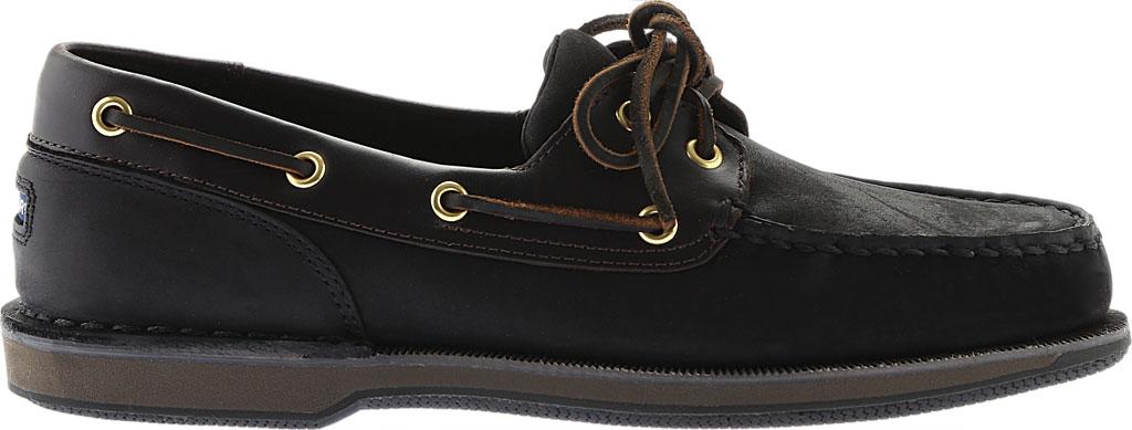 Men's Rockport Perth Boat Shoe, Black/Bark Leather, large, image 2