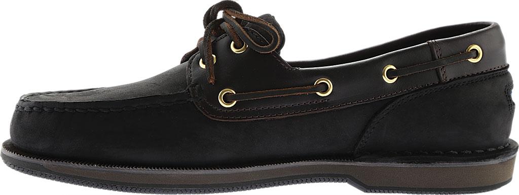 Men's Rockport Perth Boat Shoe, Black/Bark Leather, large, image 3