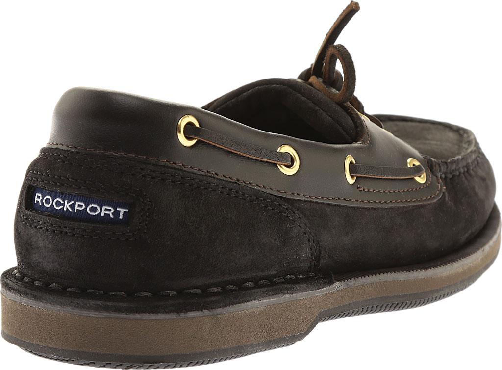 Men's Rockport Perth Boat Shoe, Black/Bark Leather, large, image 4