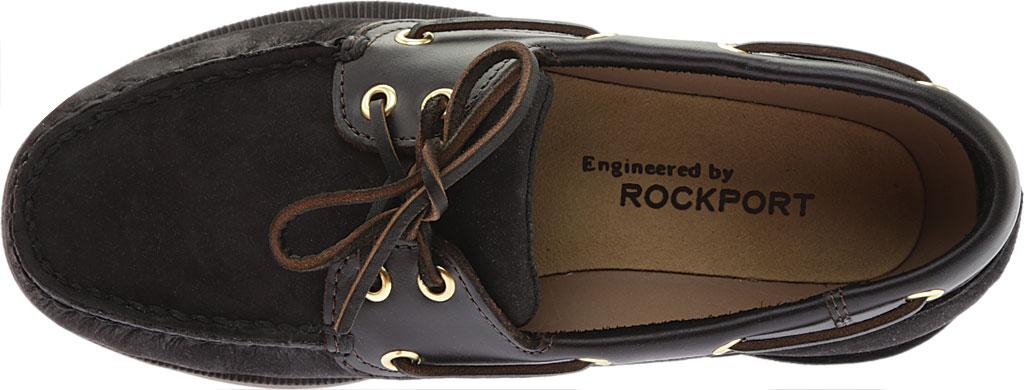 Men's Rockport Perth Boat Shoe, Black/Bark Leather, large, image 5