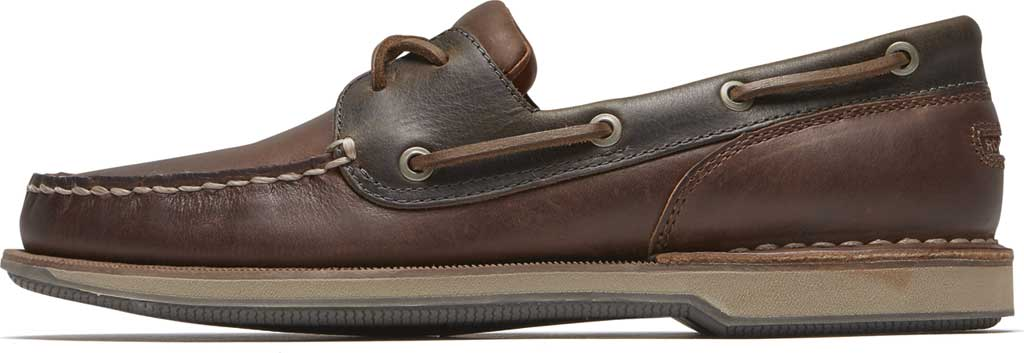 Men's Rockport Perth Boat Shoe, Beeswax/Dark Brown Leather, large, image 3