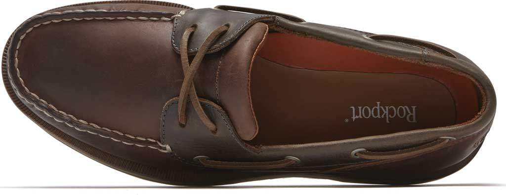 Men's Rockport Perth Boat Shoe, Beeswax/Dark Brown Leather, large, image 4