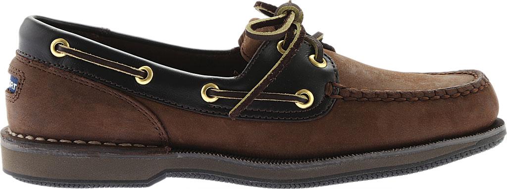 Men's Rockport Perth Boat Shoe, Chocolate/Bark Nubuck, large, image 2