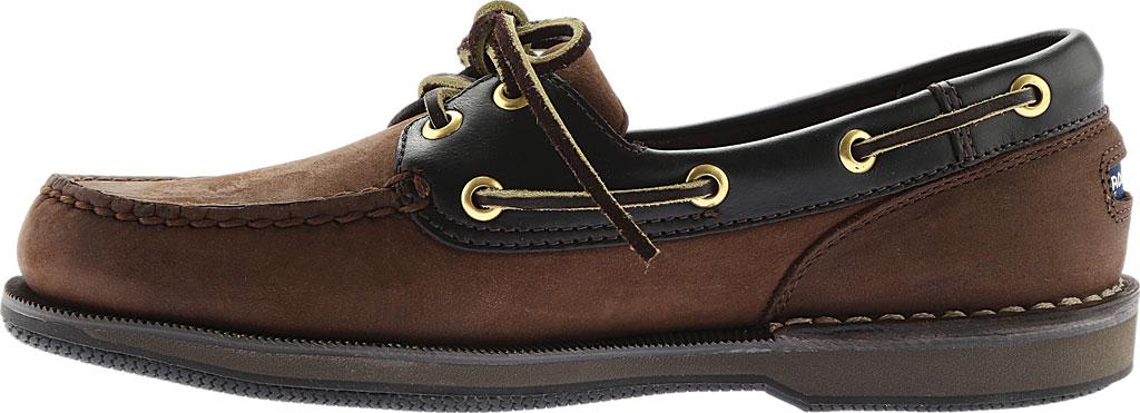 Men's Rockport Perth Boat Shoe, Chocolate/Bark Nubuck, large, image 3