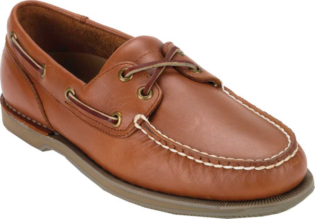 Men's Rockport Perth Boat Shoe, Timber w/ Honey Sole, large, image 1