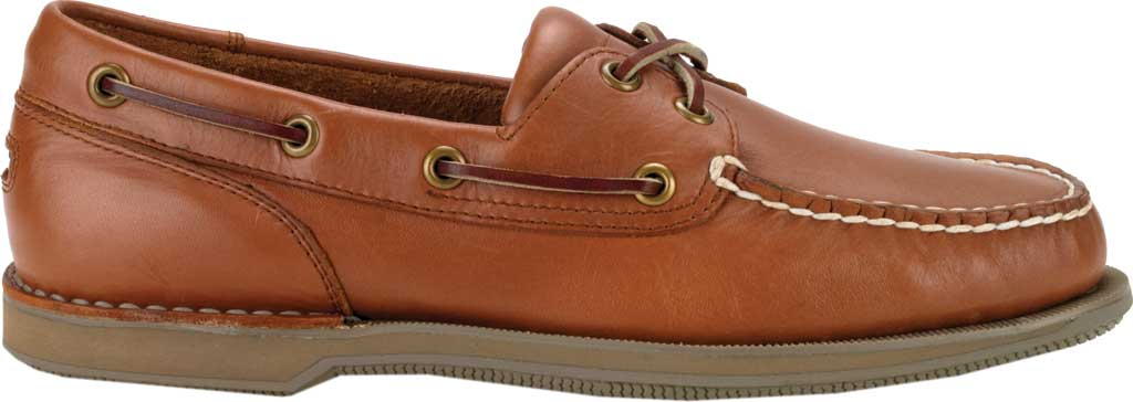 Men's Rockport Perth Boat Shoe, Timber w/ Honey Sole, large, image 2