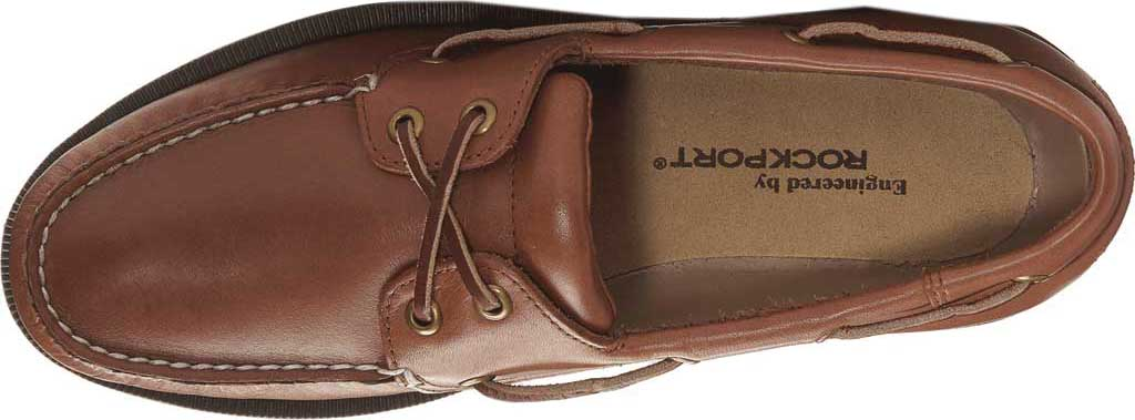 Men's Rockport Perth Boat Shoe, Timber w/ Honey Sole, large, image 4