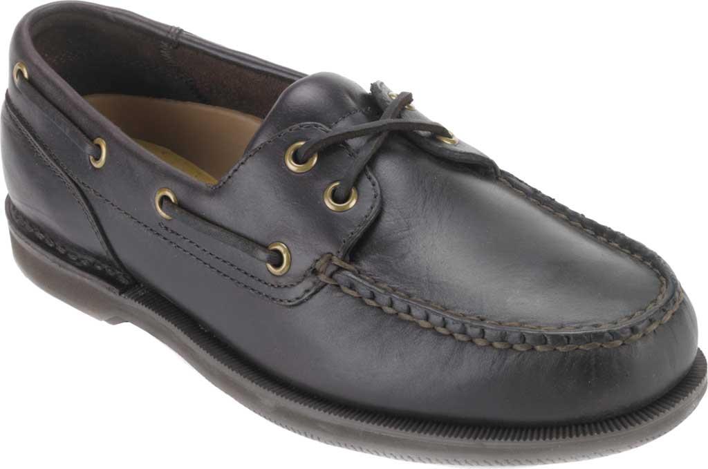 Men's Rockport Perth Boat Shoe, Dark Brown Pull Up Leather, large, image 1