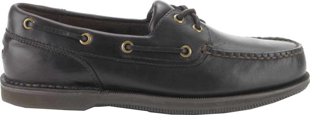 Men's Rockport Perth Boat Shoe, Dark Brown Pull Up Leather, large, image 2