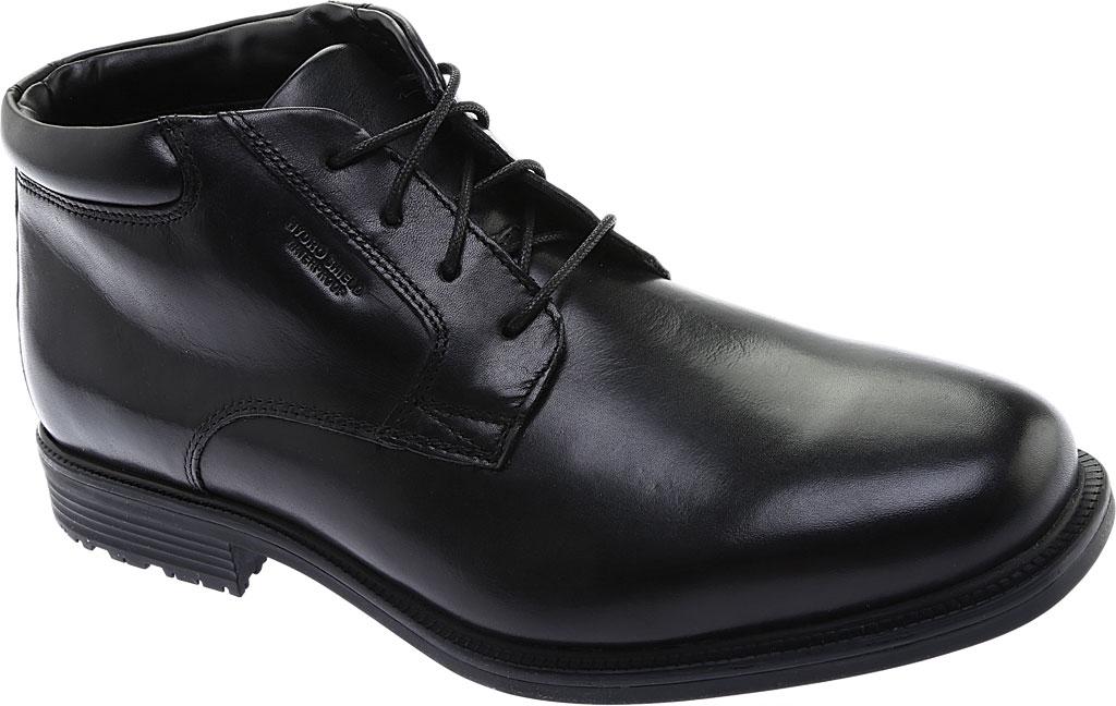 Men's Rockport Essential Details Waterproof Chukka Boot, Black Full Grain Leather, large, image 1