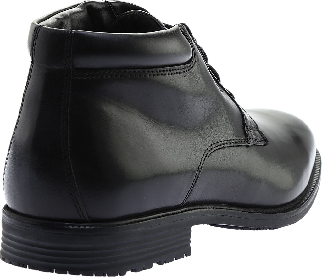 Men's Rockport Essential Details Waterproof Chukka Boot, Black Full Grain Leather, large, image 4