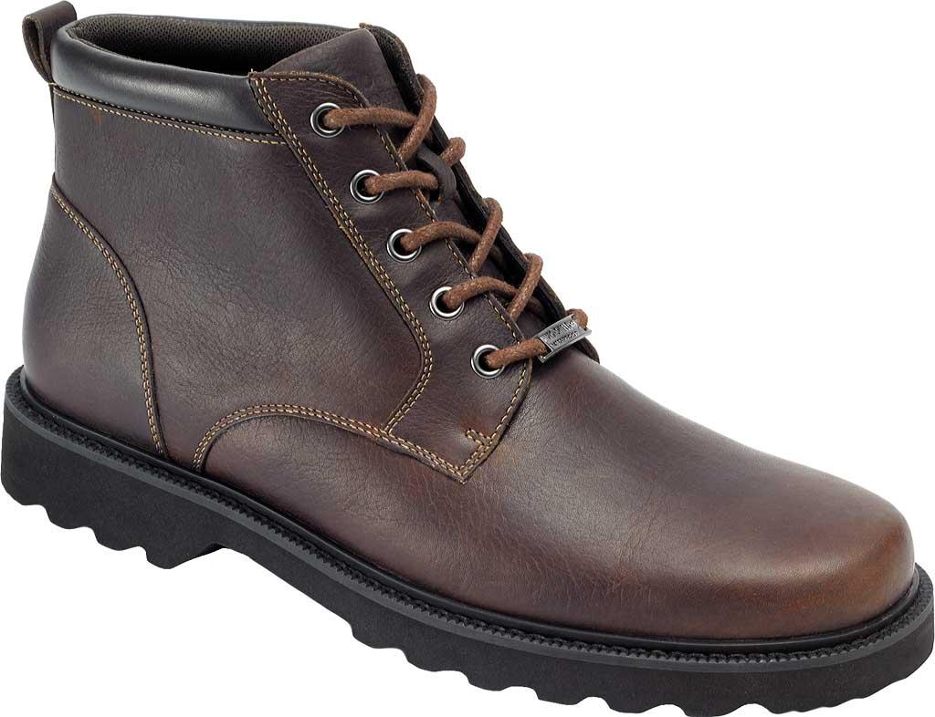 Men's Rockport Northfield Plain Toe Boot, Chocolate Full Grain Leather, large, image 1