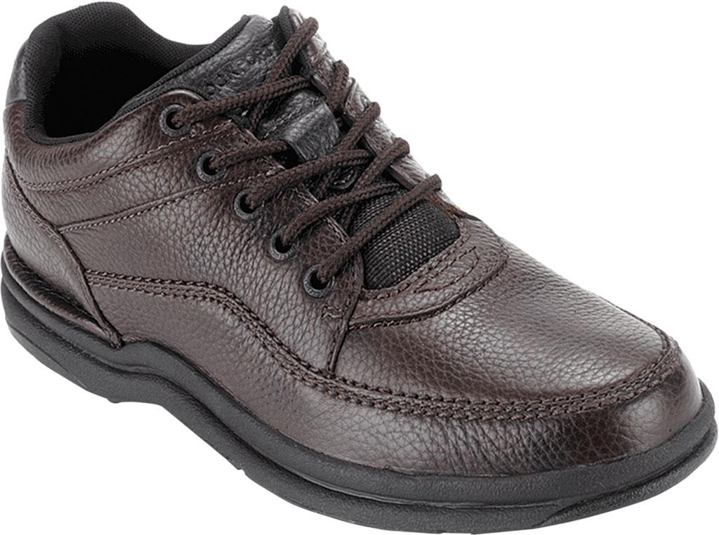 Men's Rockport World Tour Classic Walking Shoe, Brown Tumbled, large, image 1