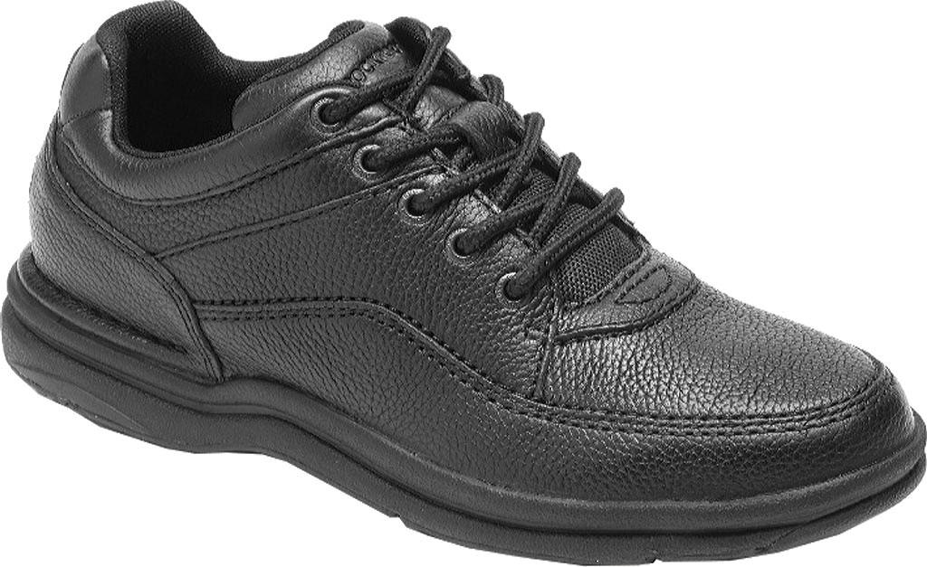 Men's Rockport World Tour Classic Walking Shoe, Black Tumbled, large, image 1