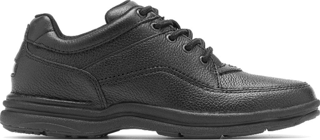 Men's Rockport World Tour Classic Walking Shoe, Black Tumbled, large, image 2