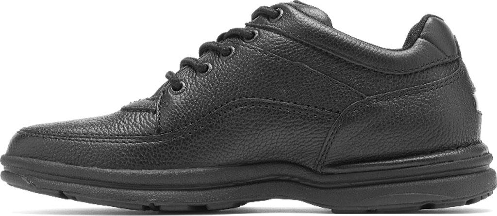 Men's Rockport World Tour Classic Walking Shoe, Black Tumbled, large, image 3