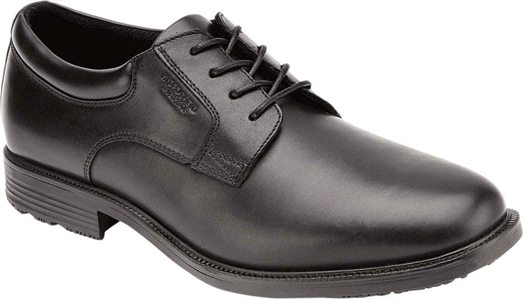 Men's Rockport Essential Details Waterproof Plain Toe, Black Full Grain Leather, large, image 1