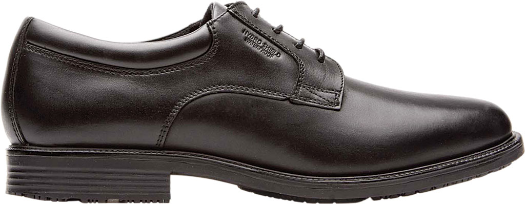Men's Rockport Essential Details Waterproof Plain Toe, Black Full Grain Leather, large, image 2