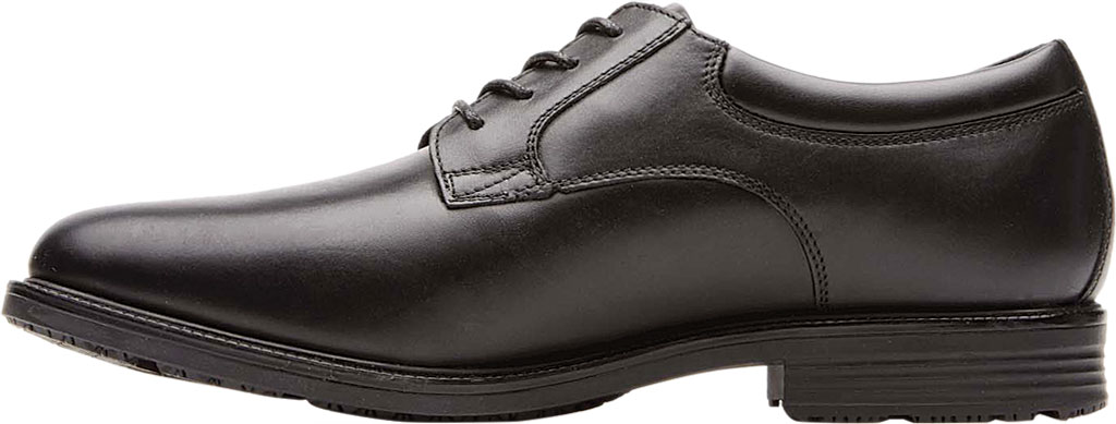 Men's Rockport Essential Details Waterproof Plain Toe, Black Full Grain Leather, large, image 3