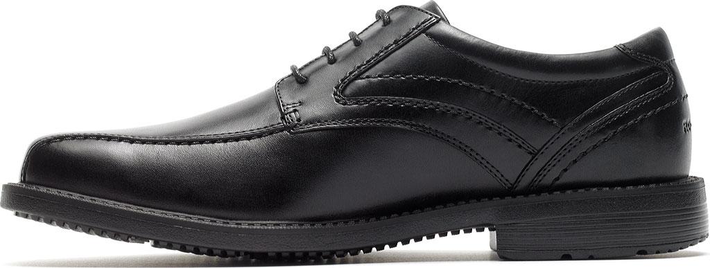 Men's Rockport Style Leader 2 Bike Toe Oxford, Black Leather, large, image 3