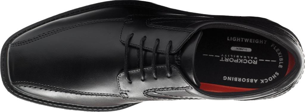 Men's Rockport Style Leader 2 Bike Toe Oxford, Black Leather, large, image 4