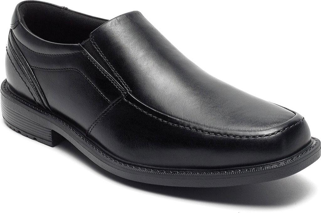 Men's Rockport Style Leader 2 Moc Toe Slip On, Black Leather, large, image 1